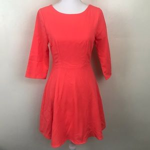 Everly Coral Dress Lined Relaxed Fit Casual
